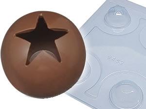 Forma com Silicone Esfera com Estrela 50mm 5cm 60g Ref.9452 BWB