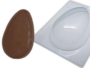 Forma com Silicone Ovo de Páscoa Casca Grossa 500g Ref.9548 BWB