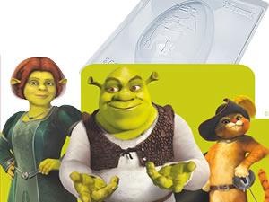 Forma com Silicone Ovo Shrek 350g Ref.11005 BWB
