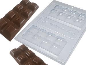 Forma com Silicone Tablete Barra 150g Ref.9697 BWB