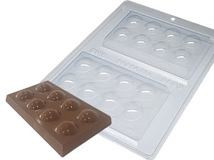 Forma com Silicone Tablete Bolinha 150g Ref.9683 BWB