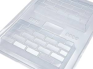 Forma com Silicone Tablete Tijolinho Tijolo Aparente Avista 260g Ref.9890 BWB