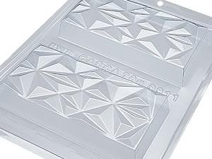 Forma com Silicone Tablete Triângulo 250g Ref.9911 BWB
