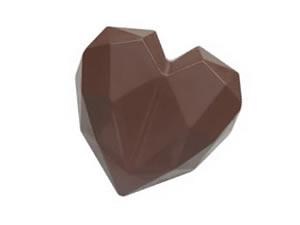 Forma com Silicone Trufa Coração Lapidado 65g Ref.9836 BWB