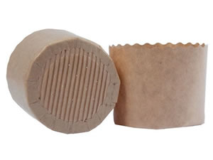 Forma de Panetone Kraft LISO 100g Ecopack Ref.PA7060K 12unid Sulformas