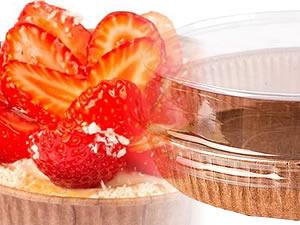 Forma para Torta (Pie) M 16x3cm Marrom com Tampa Linha Top Ecopack Ref.PET16030M 5und Sulformas