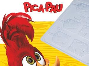 Forma Pirulito Pica Pau Sorrindo 20g Ref.11017 BWB