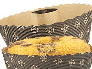 Forma Torta Suíça 500grs Fiori Decorada Papel Ondulado Ecopack Ref.TS15060FO 10unid Sulformas