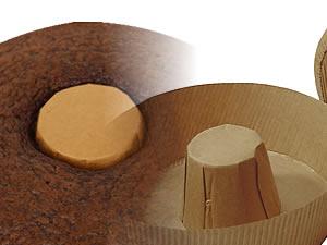 Forma Torta Suíça 500grs Kraft Papel Ondulado Ecopack Ref.TS15060KO 10unid Sulformas