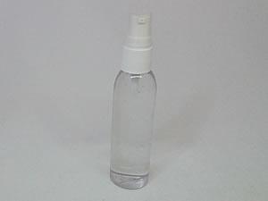 Frasco Cilindrico PVC Alto 60ml com Válvula Dosadora Branca R18/415mm