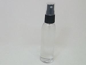 Frasco Cilindrico PVC Alto 60ml com Válvula Spray Preta R18/415mm