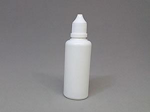 Frasco Conta Gotas de Plástico 60ml Branco com Tampa Lacre e Gotejador