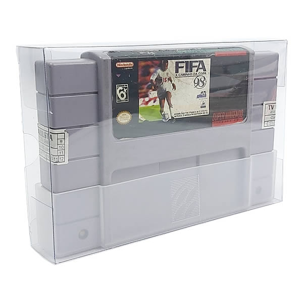 Games-31 0,20mm Caixa Protetora para Cartucho Loose SNES Super Nintendo aclopado com Dust Cover