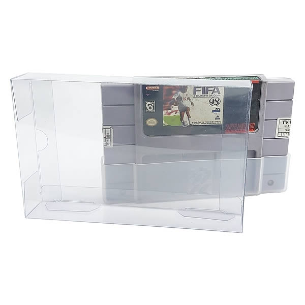 Games-31 0,30mm Caixa Protetora para Cartucho Loose SNES Super Nintendo aclopado com Dust Cover