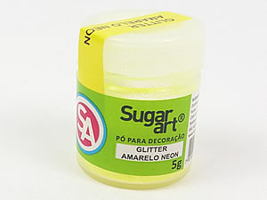Glitter para Decoração 5g Amarelo Neon Sugarart