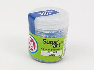 Glitter para Decoração 5g Azul Sugarart