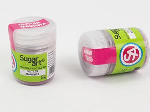 Glitter para Decoração 5g Magenta Pink Sugarart