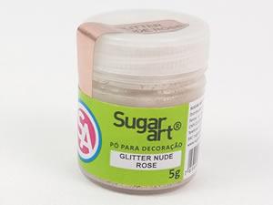 Glitter para Decoração 5g Nude Rosê Champanhe Sugarart