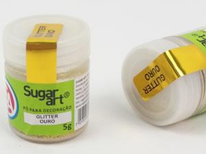 Glitter para Decoração 5g Ouro Sugarart