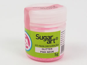 Glitter para Decoração 5g Pink Neon Sugarart