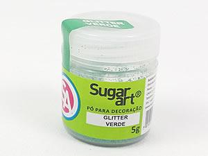 Glitter para Decoração 5g Verde Sugarart