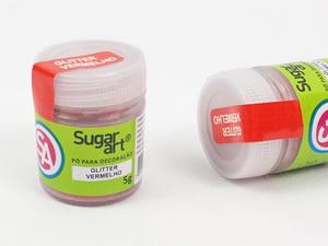 Glitter para Decoração 5g Vermelho Sugarart
