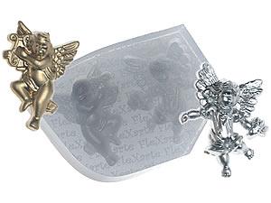 Molde de Silicone Anjos Dourados cod.213 Flexarte