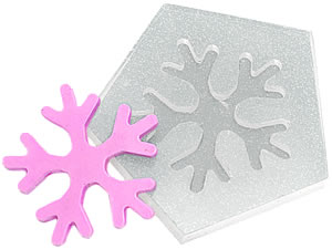 Molde de Silicone Floco de Neve cod.97 Flexarte
