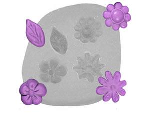 Molde de Silicone Flores Miosotis Pequenas cod.111 Flexarte