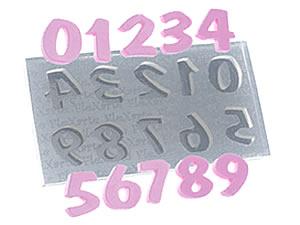 Molde de Silicone Números Flash Médio cod.511 Flexarte