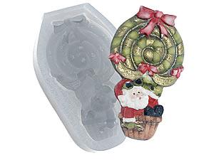 Molde de Silicone Papai Noel de Balão cod.167 Flexarte