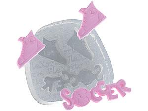 Molde de Silicone Par de Tênis e Soccer (Futebol) cod.71 Flexarte