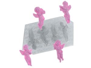 Molde de Silicone Quarteto de Anjinhos Metraton cod.81 Flexarte