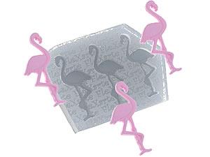 Molde de Silicone Trio de Flamingos cod.68 Flexarte