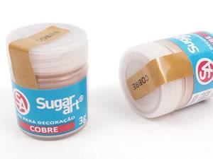 Pó para Decoração 3g Cobre Brilhante Sugarart
