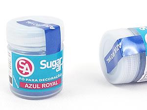 Pó para Decoração 3g Azul Royal Cintilante Sugarart