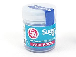 Pó para Decoração 3g Cintilante Azul Royal Sugarart