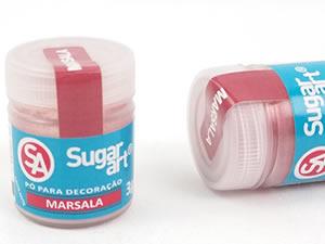 Pó para Decoração 3g Marsala Cintilante Sugarart
