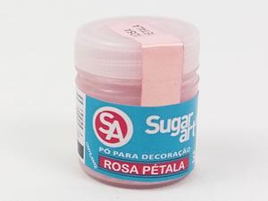 Pó para Decoração 3g Cintilante Rosa Pétala Sugarart