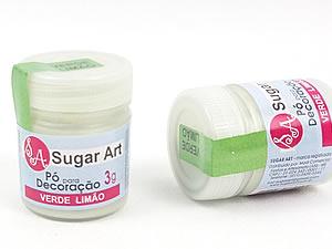 Pó para Decoração 3g Verde Limão Cintilante Sugarart
