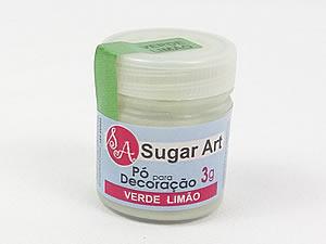 Pó para Decoração 3g Cintilante Verde Limão Sugarart