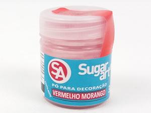 Pó para Decoração 3g Cintilante Vermelho Morango Sugarart
