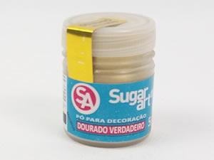 Pó para Decoração 5g Dourado Verdadeiro Metálico Sugarart