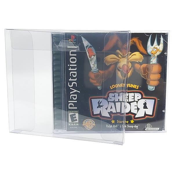 Games-14 0,20mm Caixa Protetora para CD-Rom, PS1 e Dreamcast