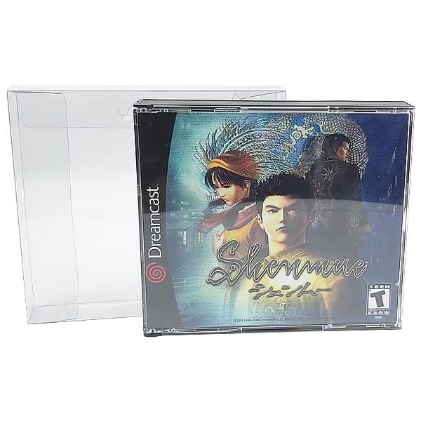 Games-18 0,20mm Caixa Protetora para Jogo Duplo de PS1 e Dreamcast, CD Duplo