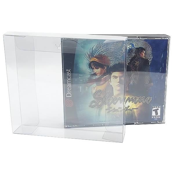 Games-18 0,30mm Caixa Protetora para Jogo Duplo de PS1 e Dreamcast, CD Duplo