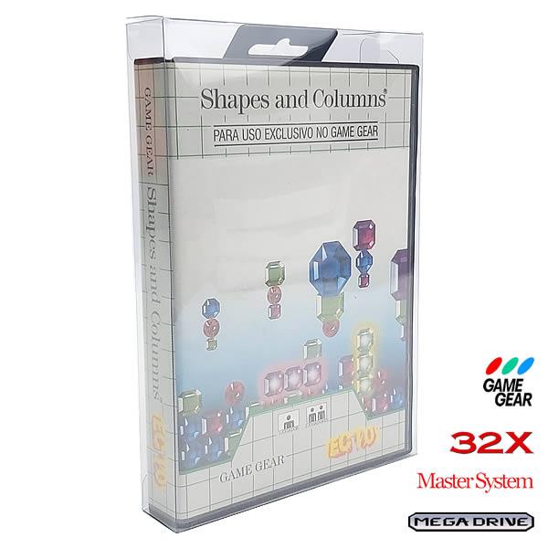 Games-29 0,20mm Caixa Protetora para CaixaBox Case com ABA DE PENDURAR Mega Drive, Master System, 32X e Game Gear