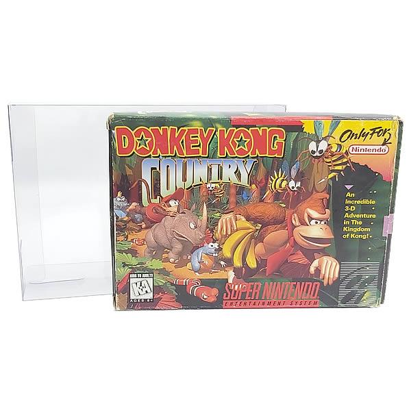Games-4 0,20mm Caixa Protetora para CaixaBox Case Nintendo64, Super Nintendo SNES e Atari Jaguar