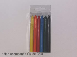 PXGiz-1 Caixa para 6 Giz de Cera Pequeno Ø8mm