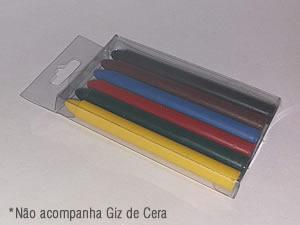 PXGiz-3 Caixa para 6 Giz de Cera Grande Ø10mm